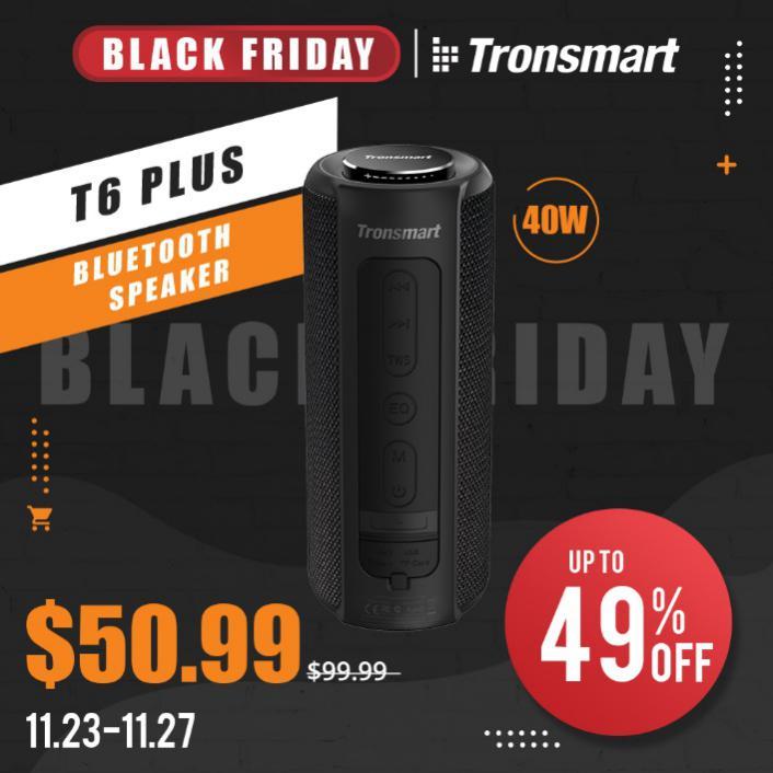 Tronsmart T6 Plus Speaker Black Friday Offer