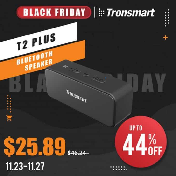 Tronsmart T2 Plus Speaker Black Friday