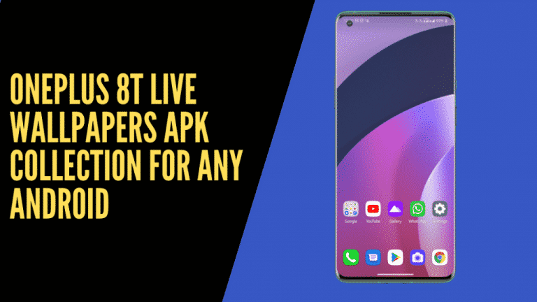 Download Oneplus 8T live wallpapers 4K
