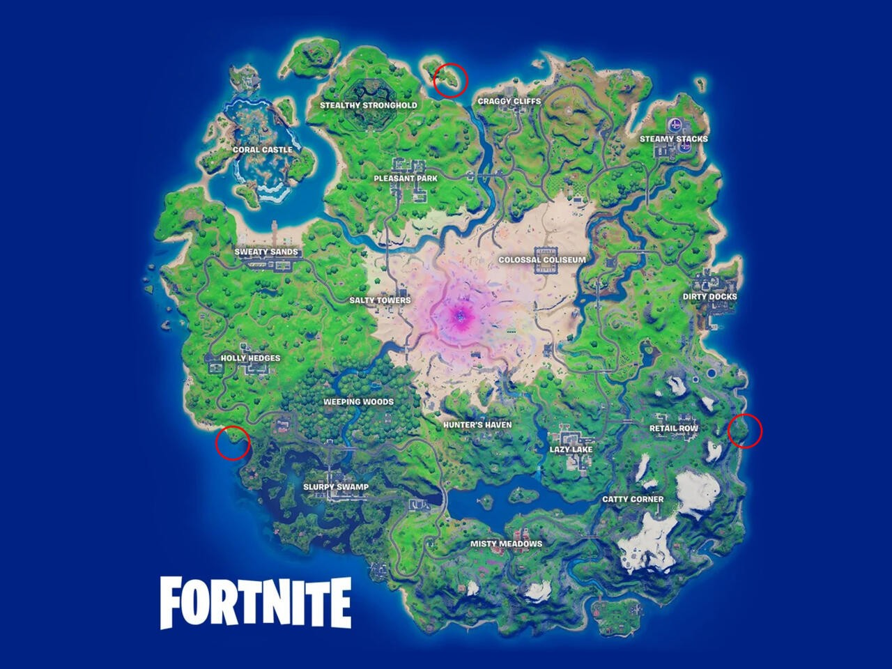 Fortnite Secret places season 5 week 9