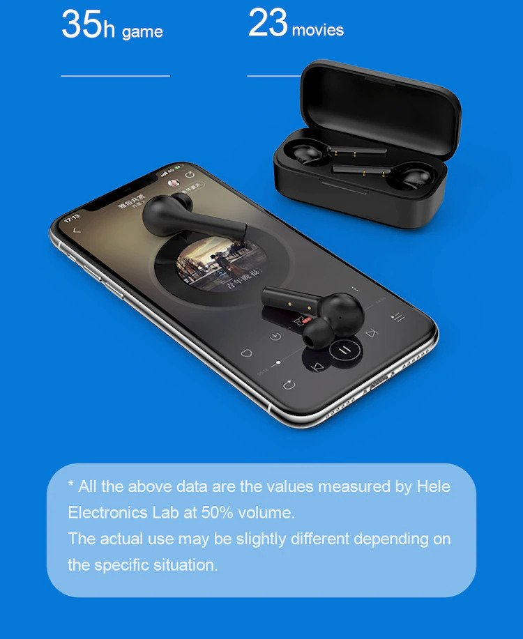 Qcy t5s tws earbuds battery life