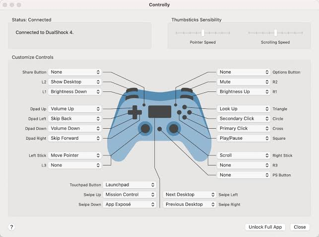 Ps5 controller for macbook pro