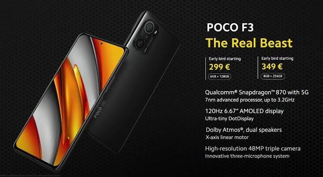 Xiaomi Poco F3 Specs