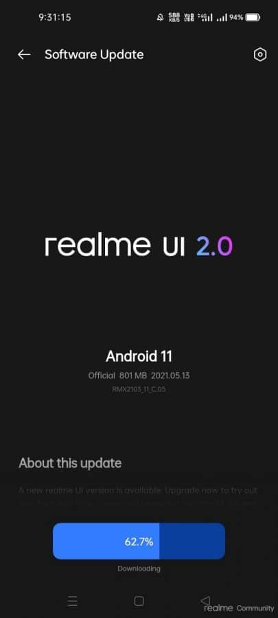 Realme 7i Android 11