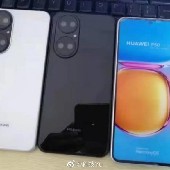 Live photos leaks for the upcoming P50 from Huawei