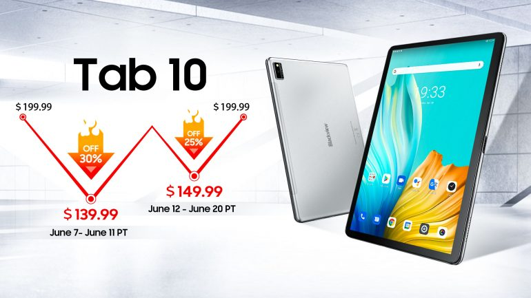 Blackview launches Tab 10 with 4GB +64GB and Android 11 at$139.99