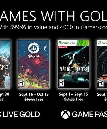 List of free Xbox Live Gold September 2021 Games